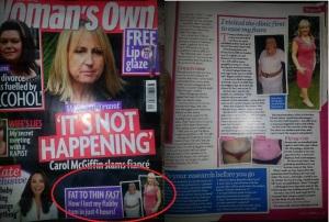 julie lancaster womans own magazine