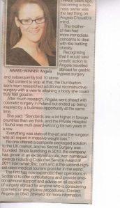 angela chouaib secret surgery scotland women in business