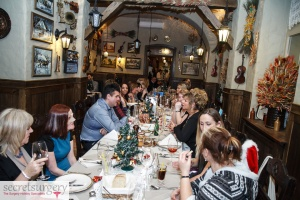 Group meal at Pod Freda